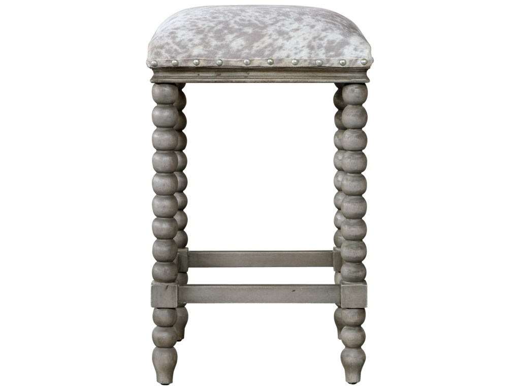 Uttermost Accent Furniture - StoolsEstes Faux Cow Hide Counter Stool