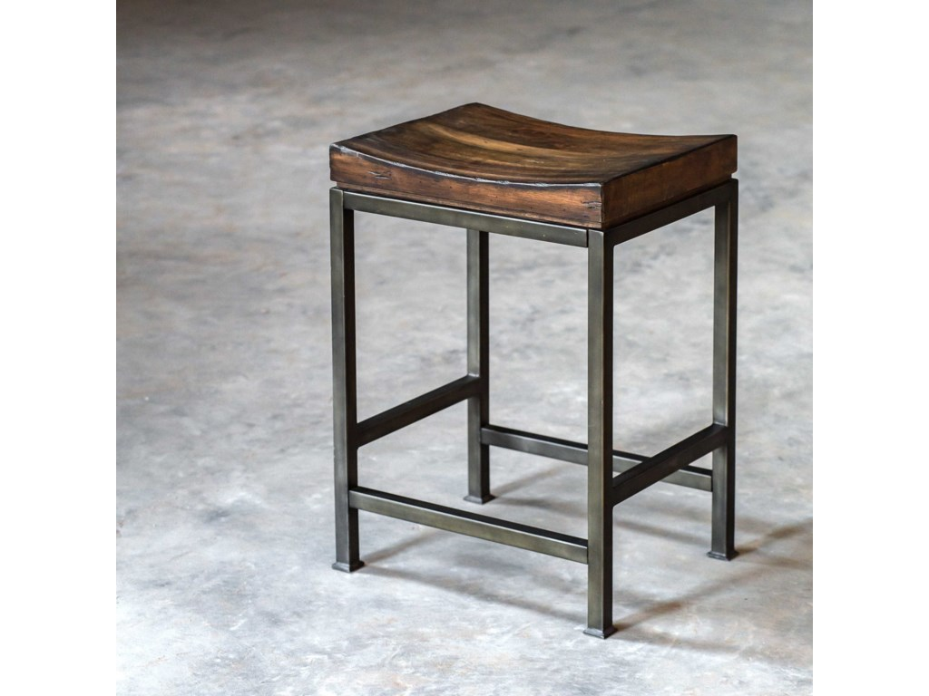 Uttermost Accent Furniture - StoolsBeck Wood Counter Stool