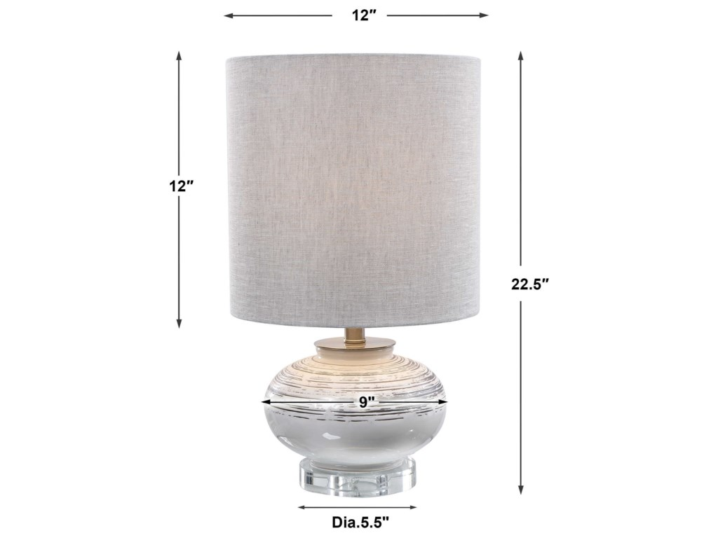 Uttermost Accent LampsLenta Off-White Accent Lamp