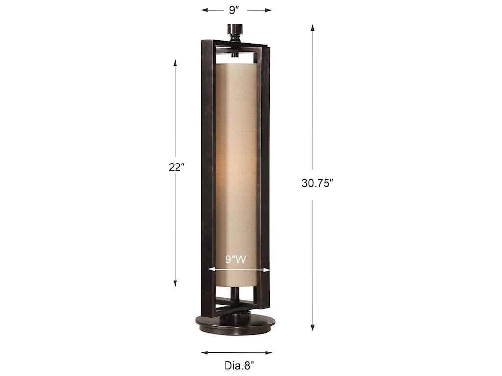 Uttermost Accent LampsGun Metal Accent Lamp