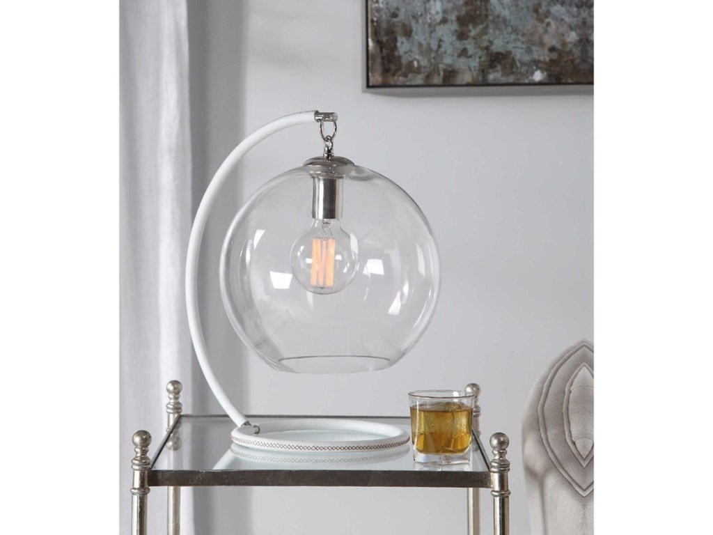 Uttermost Accent LampsEissa White Accent Lamp