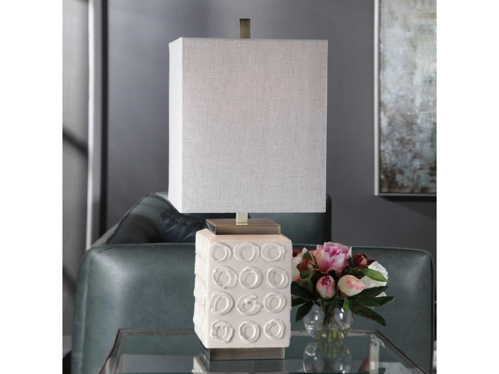 Uttermost Accent LampsEmeline White Accent Lamp