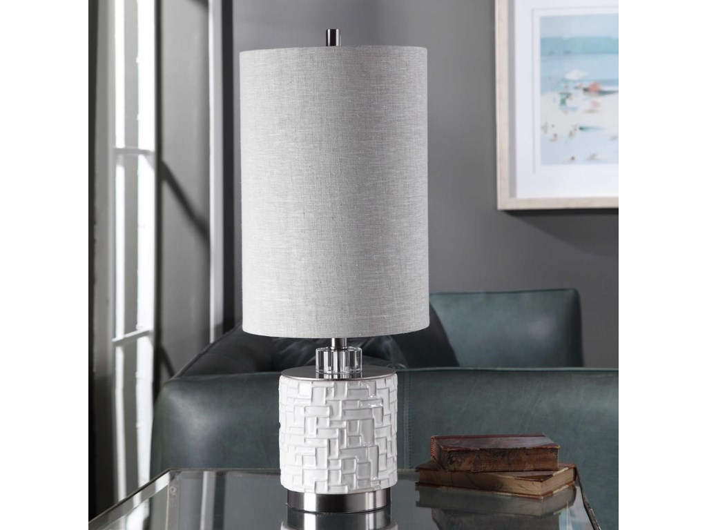 Uttermost Accent LampsElyn Glossy White Accent Lamp