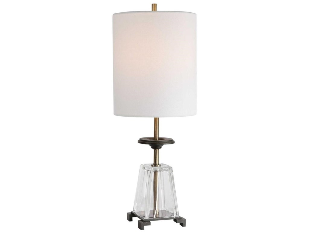 Uttermost Accent LampsHancock Glass Accent Lamp
