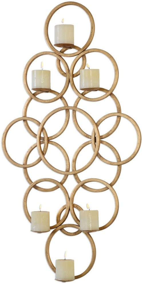 Uttermost Accessories  Coree Gold Rings Wall Sconce