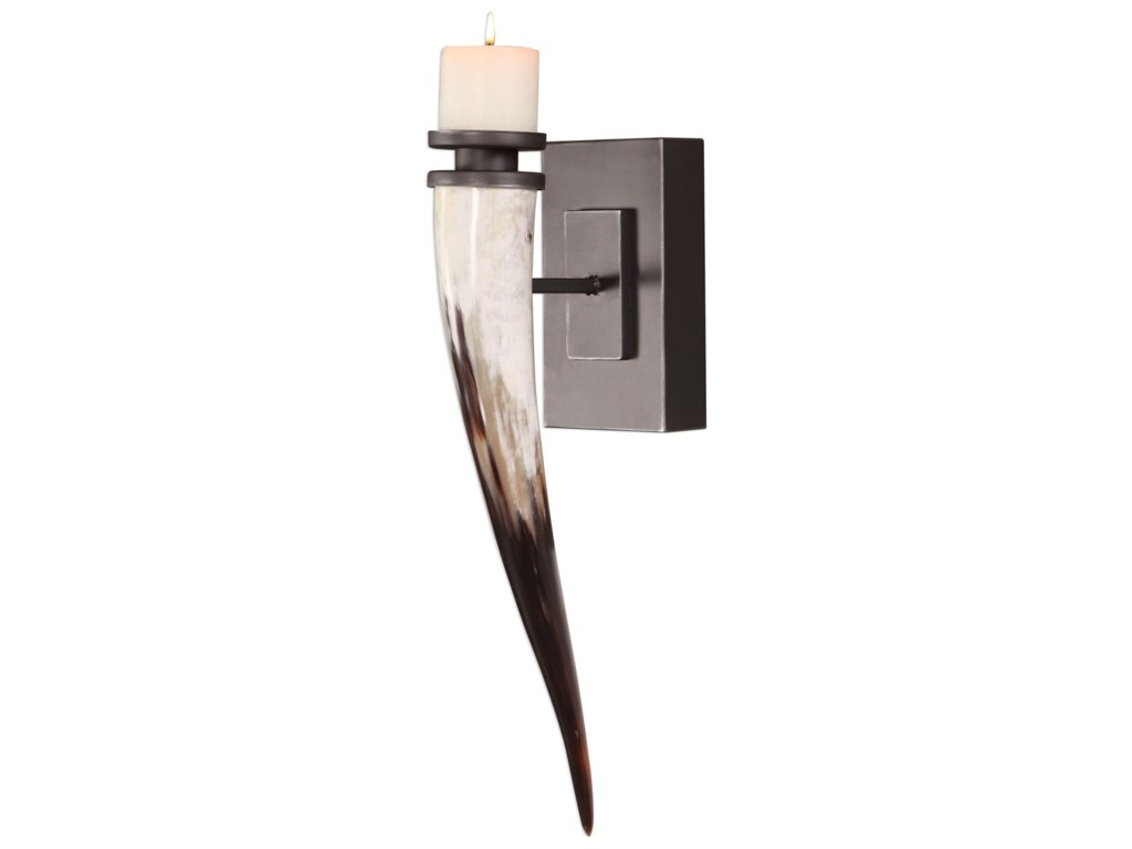 Uttermost Accessories - Candle HoldersRomany Horn Candle Sconce