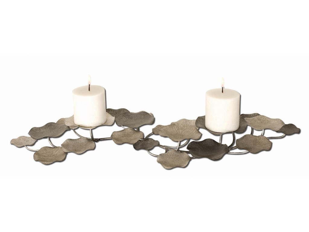 Uttermost Accessories - Candle HoldersLying Lotus Candleholder