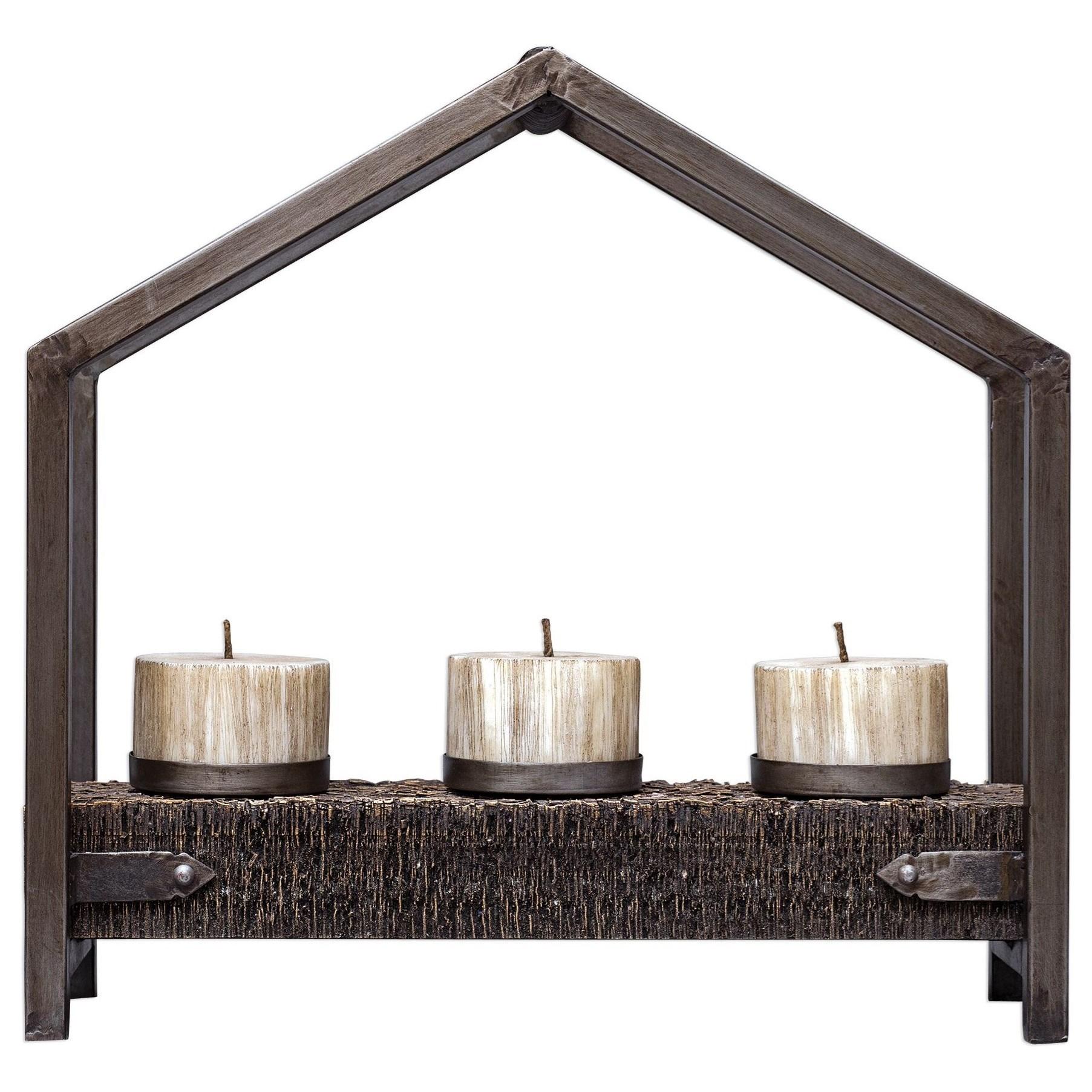 Uttermost 17568 Uttermost Yarina Dark Bronze Candleholder