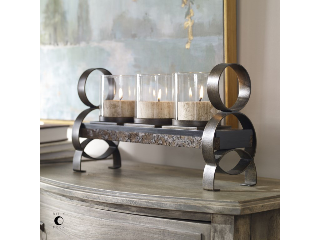 Uttermost Accessories - Candle HoldersMila Antique Bronze Candleholder