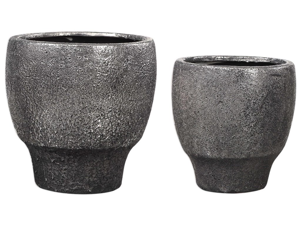 Uttermost AccessoriesJayda Lava Black Bowls (Set of 2)
