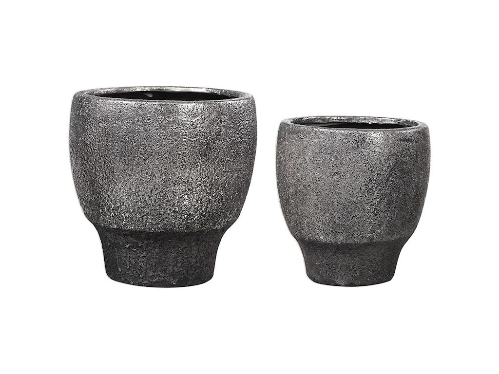 Uttermost AccessoriesJayda Lava Black Bowls (Set of 2)