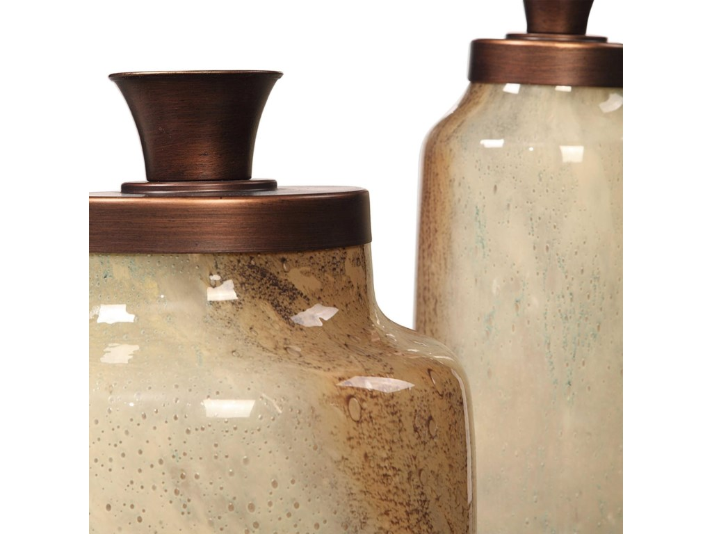 Uttermost AccessoriesElia Glass Containers, S/2