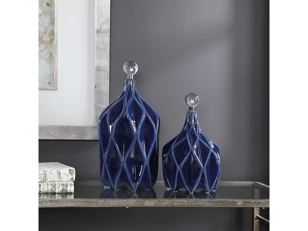 Uttermost AccessoriesKlara Geometric Bottles, S/2