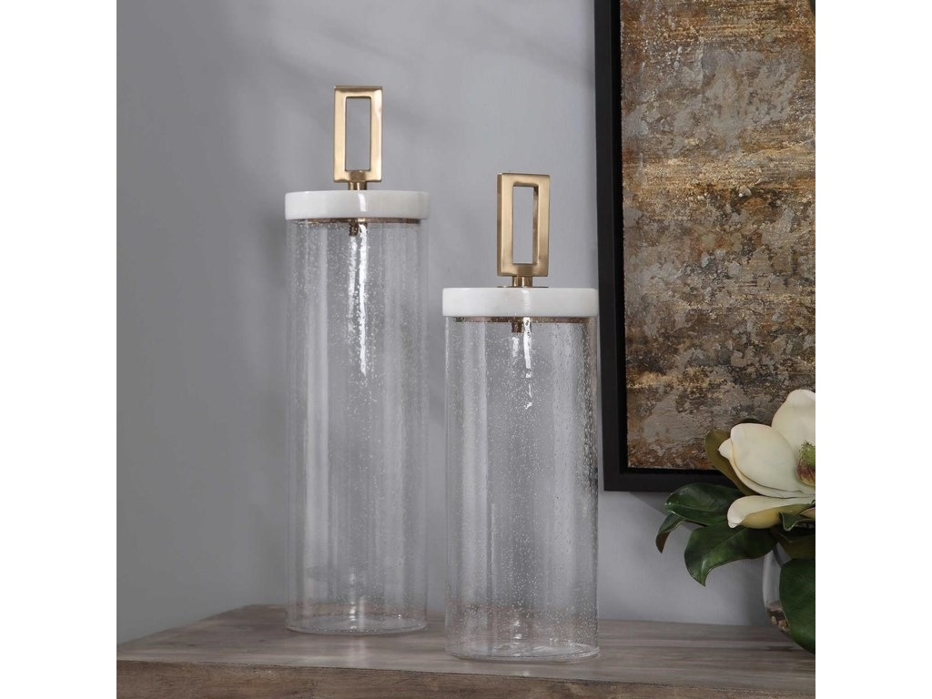 Uttermost AccessoriesHayworth Seeded Glass Containers, Set/2