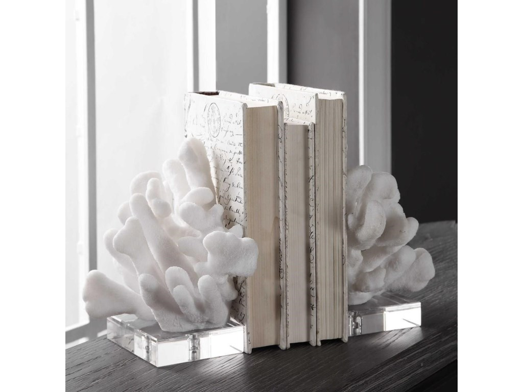 Uttermost AccessoriesCharbel White Bookends, Set/2