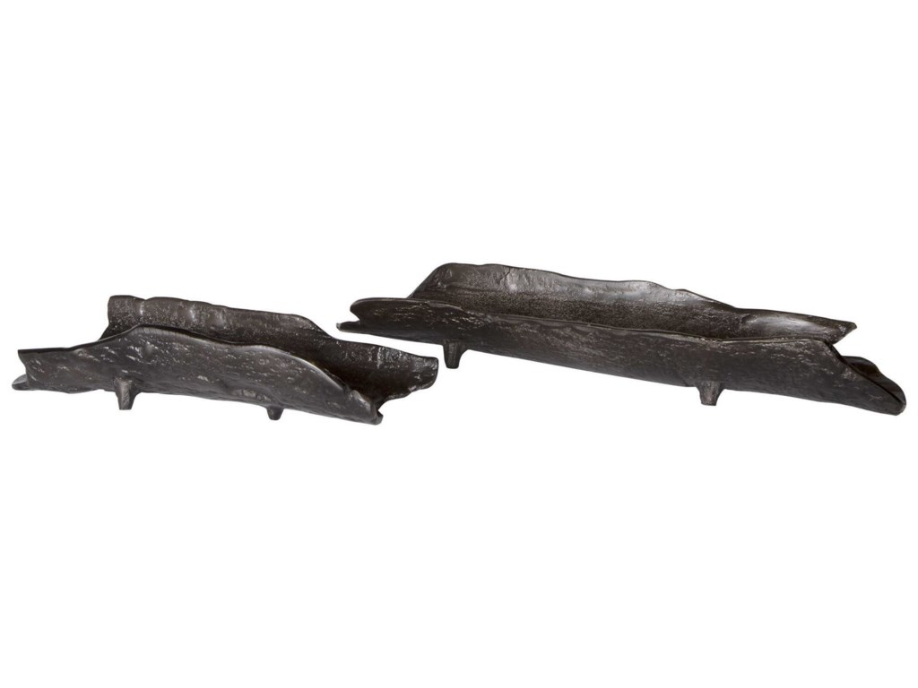 Uttermost AccessoriesCaryn Nickel Trays, S/2