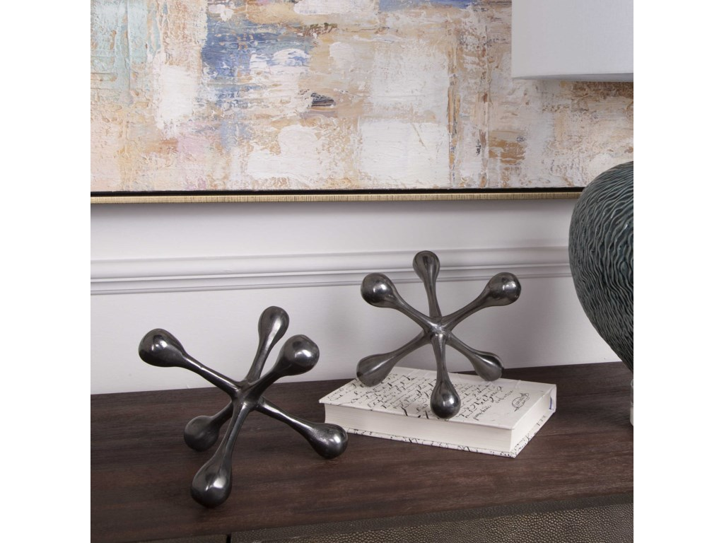 Uttermost AccessoriesHarlan Black Nickel Objects, S/2