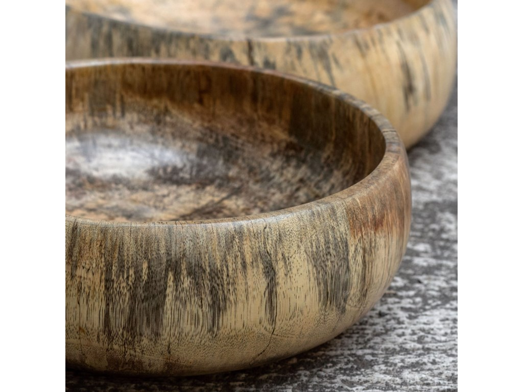 Uttermost AccessoriesTamarind Wood Bowls, S/2