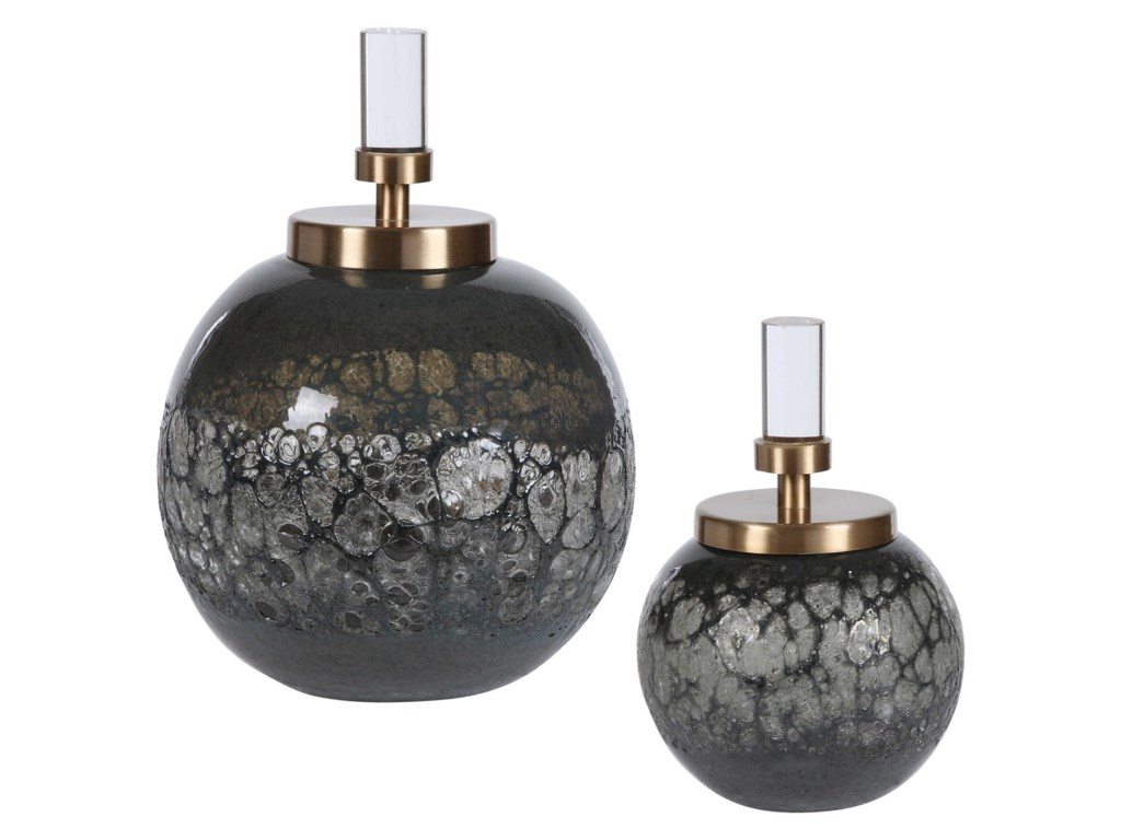 Uttermost AccessoriesCessair Art Glass Bottles, S/2