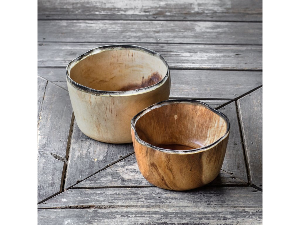 Uttermost AccessoriesSaman Bowls, S/2