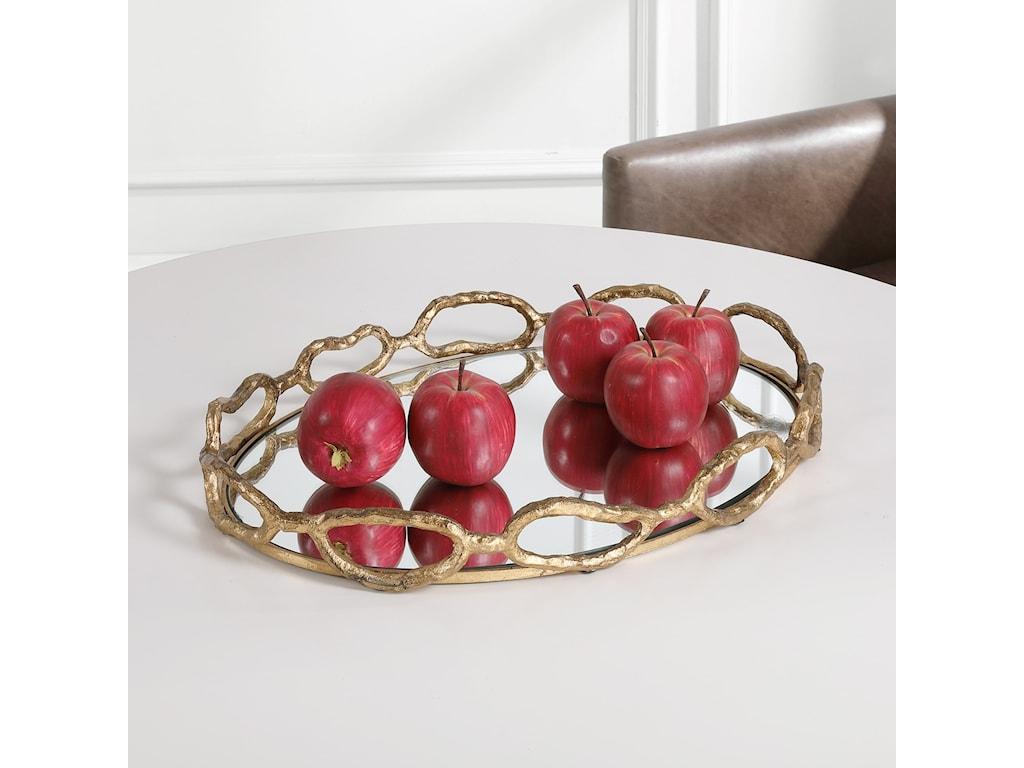 Uttermost AccessoriesCable Chain Mirrored Tray
