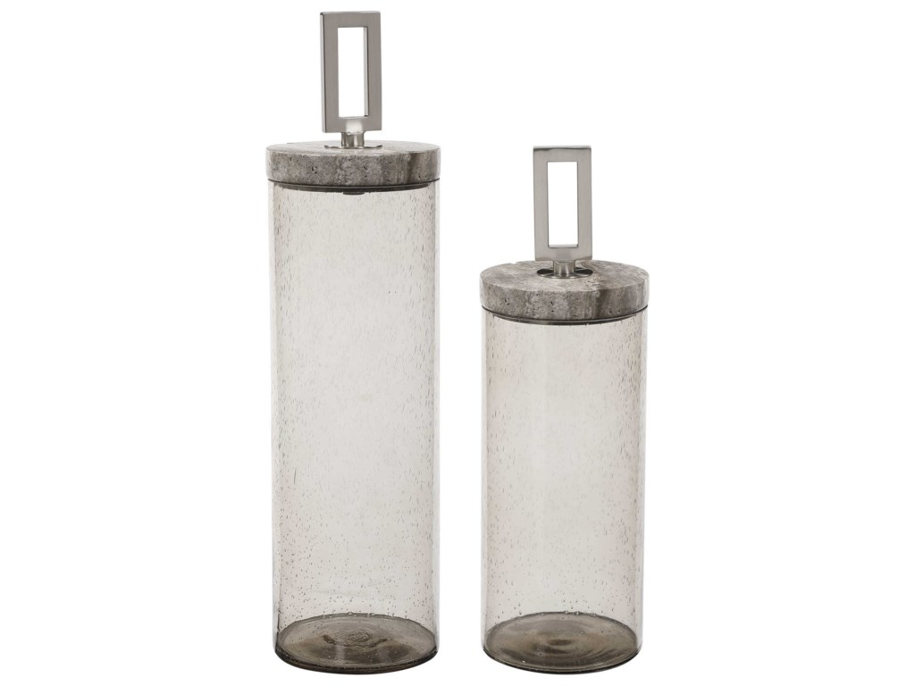 Uttermost AccessoriesSeeded Glass Containers, S/2