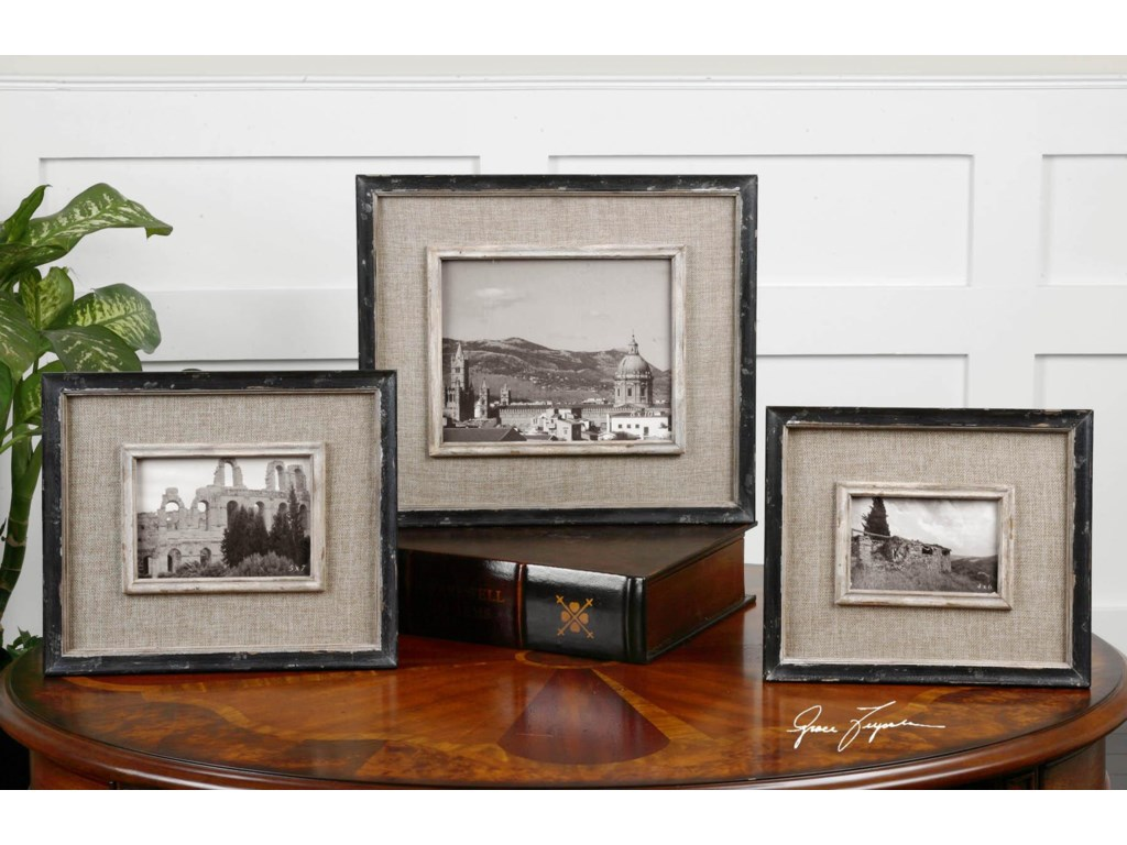 Uttermost Accessories - Picture FramesKalidas Photo Frames Set of 3