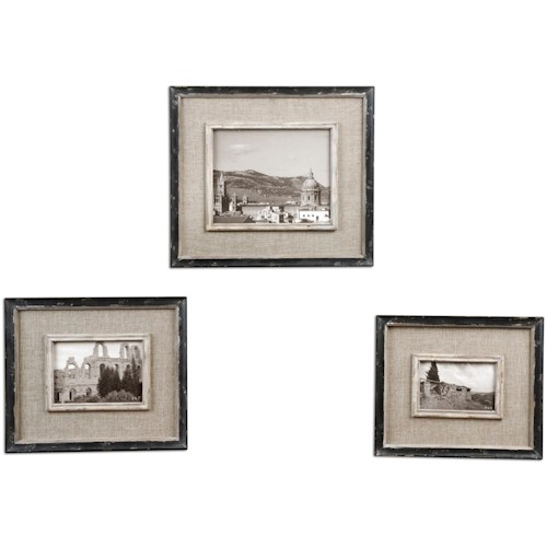 Uttermost Accessories Kalidas Photo Frames Set of 3