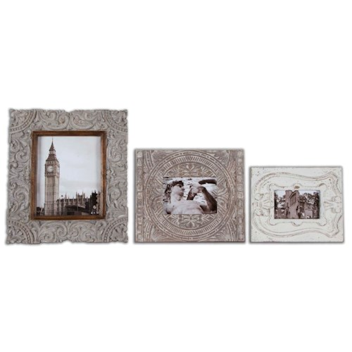 Uttermost Accessories Askan Antique White Photo Frames