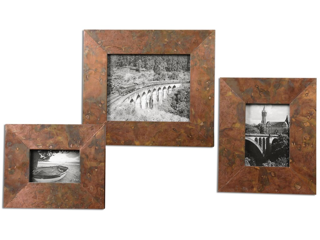 Uttermost AccessoriesAmbrosia Copper Photo Frames, Set of  3