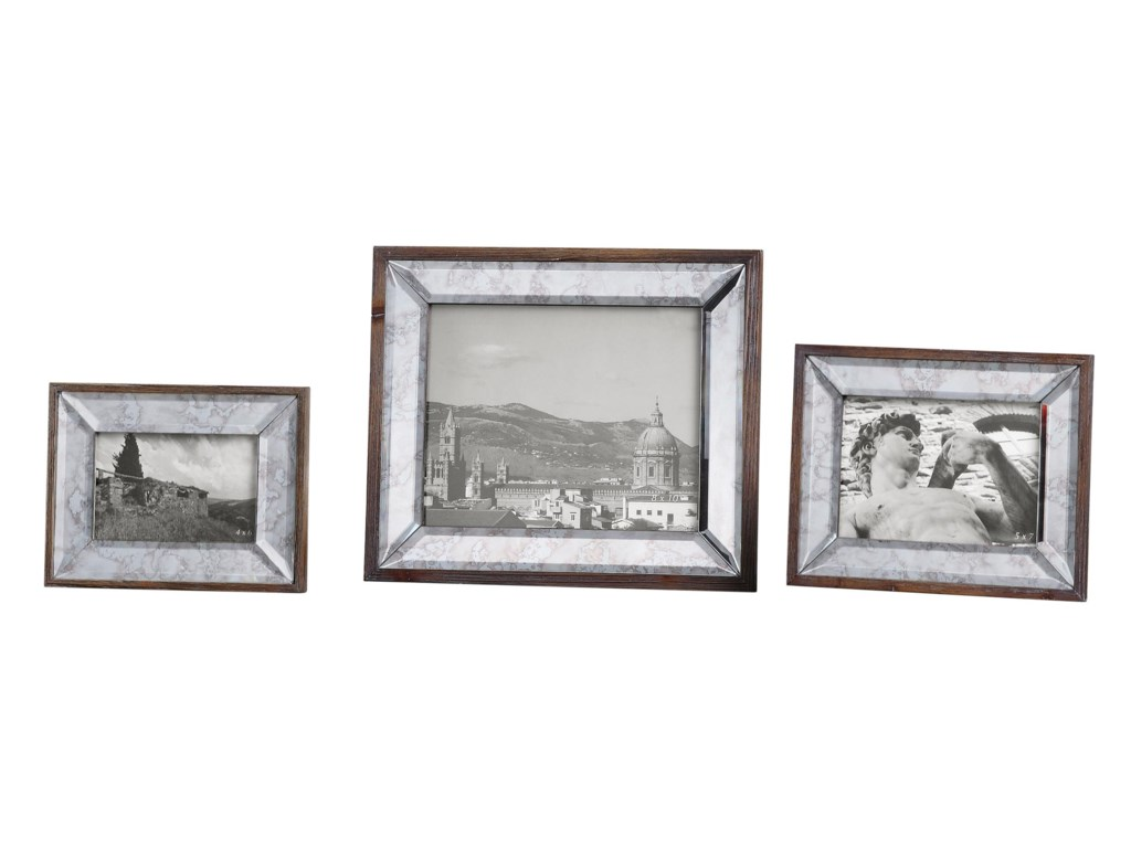 Uttermost Accessories - Picture FramesDaria Antique Mirror Photo Frames Set of 3