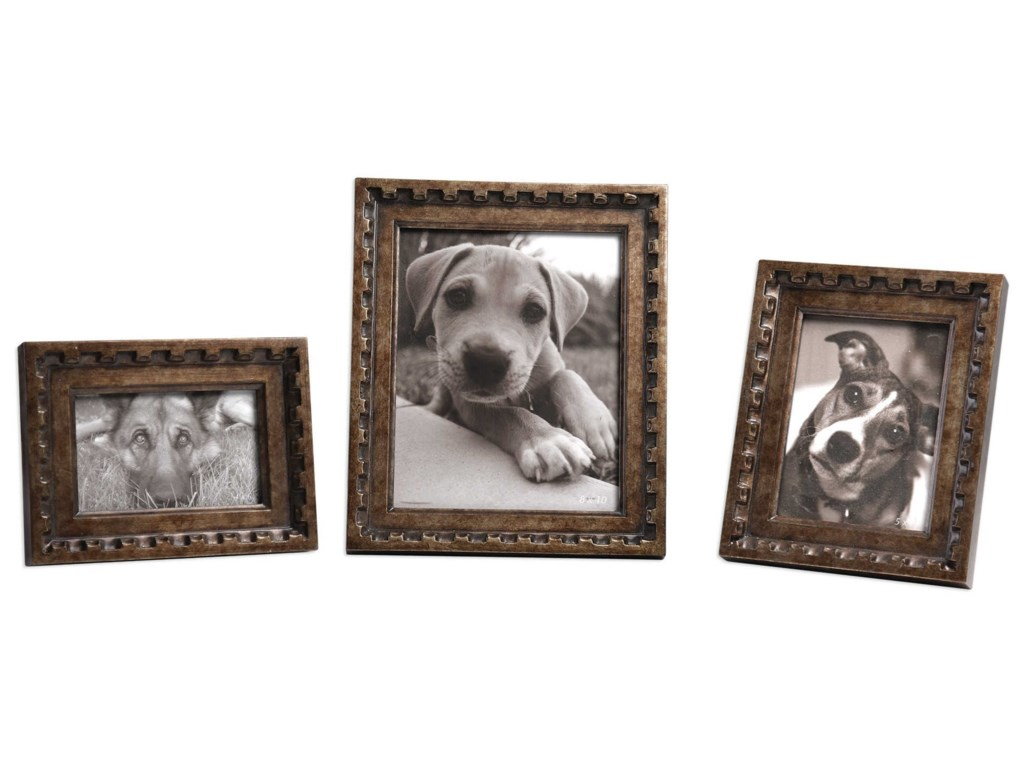 Uttermost AccessoriesKalya Antiqued Bronze Photo Frames Set of 3