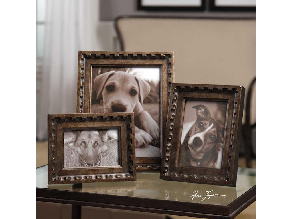 Uttermost AccessoriesKalya Antiqued Bronze Photo Frames Set of 3