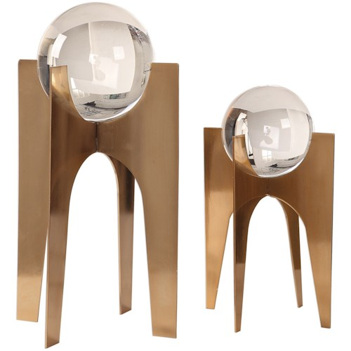 Uttermost Accessories Ellianna Crystal Spheres, S/2