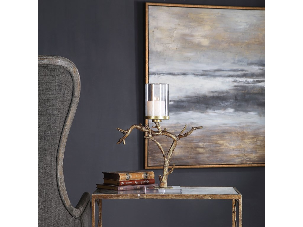 Uttermost Accessories - Candle HoldersSaud Gold Branch Candleholder