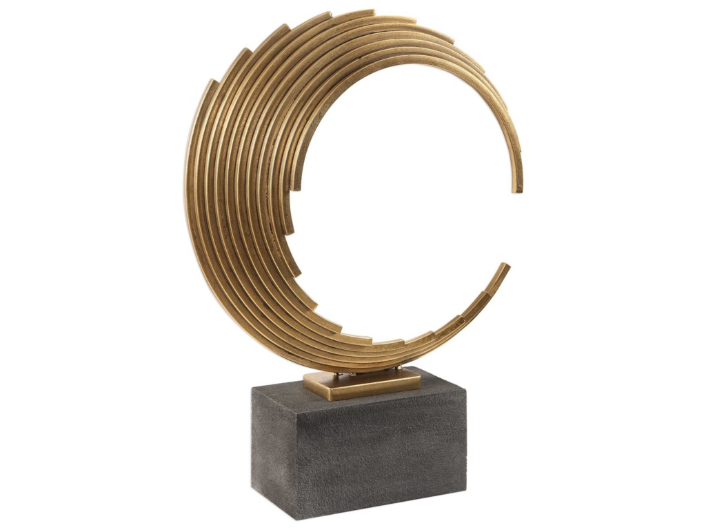 Uttermost AccessoriesSaanvi Curved Gold Rods Sculpture