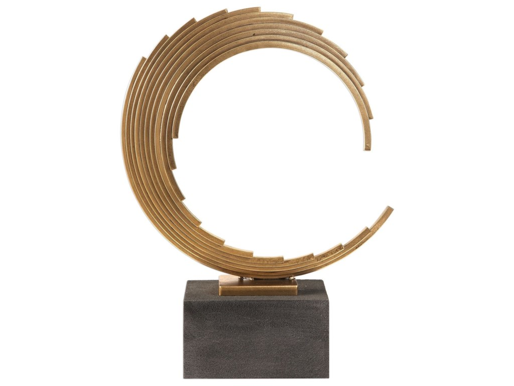 Uttermost Accessories - Statues and FigurinesSaanvi Curved Gold Rods Sculpture