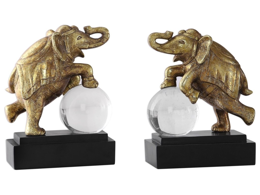 Uttermost AccessoriesCircus Act Gold Elephant Bookends
