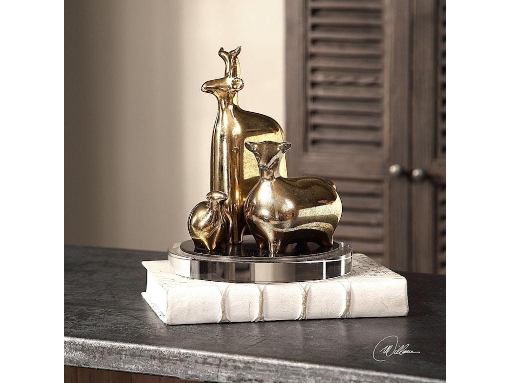 Uttermost AccessoriesBaa Baa Gold Sheep Sculptures