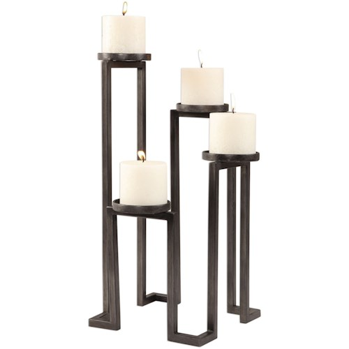 Uttermost Accessories Natalie Stepped Candleholder