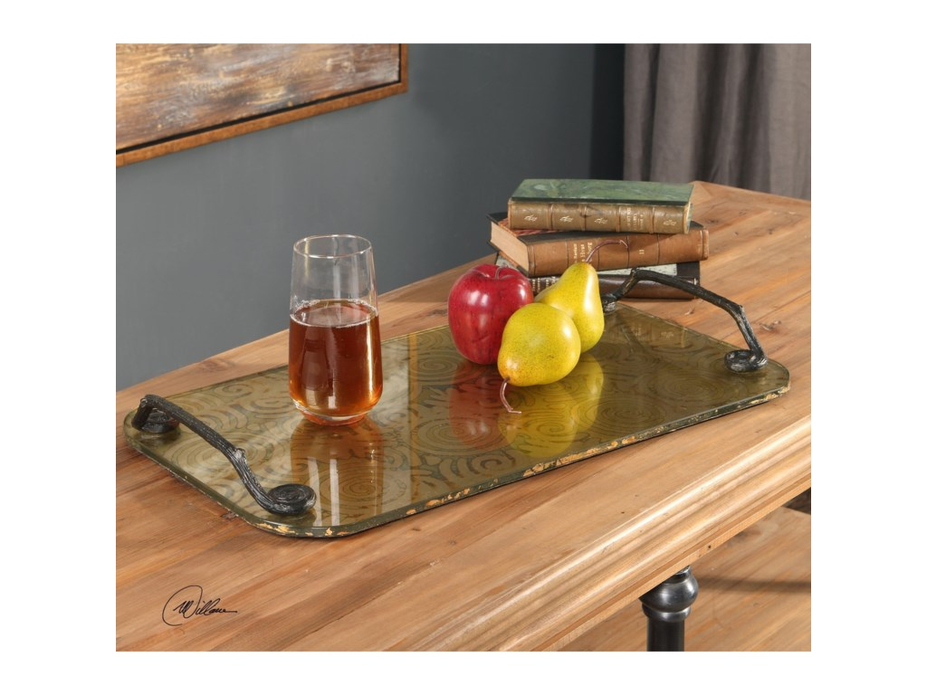Uttermost AccessoriesScarlett Painted Glass Tray