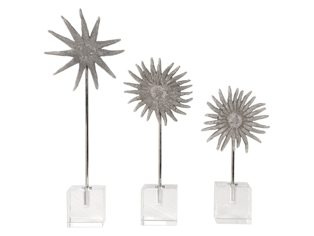 Uttermost Accessories - Statues and FigurinesSunflower Starfish Sculptures, S/3