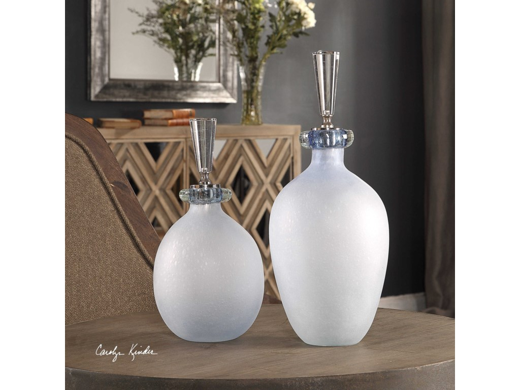 Uttermost AccessoriesLeah Bubble Glass Containers S/2