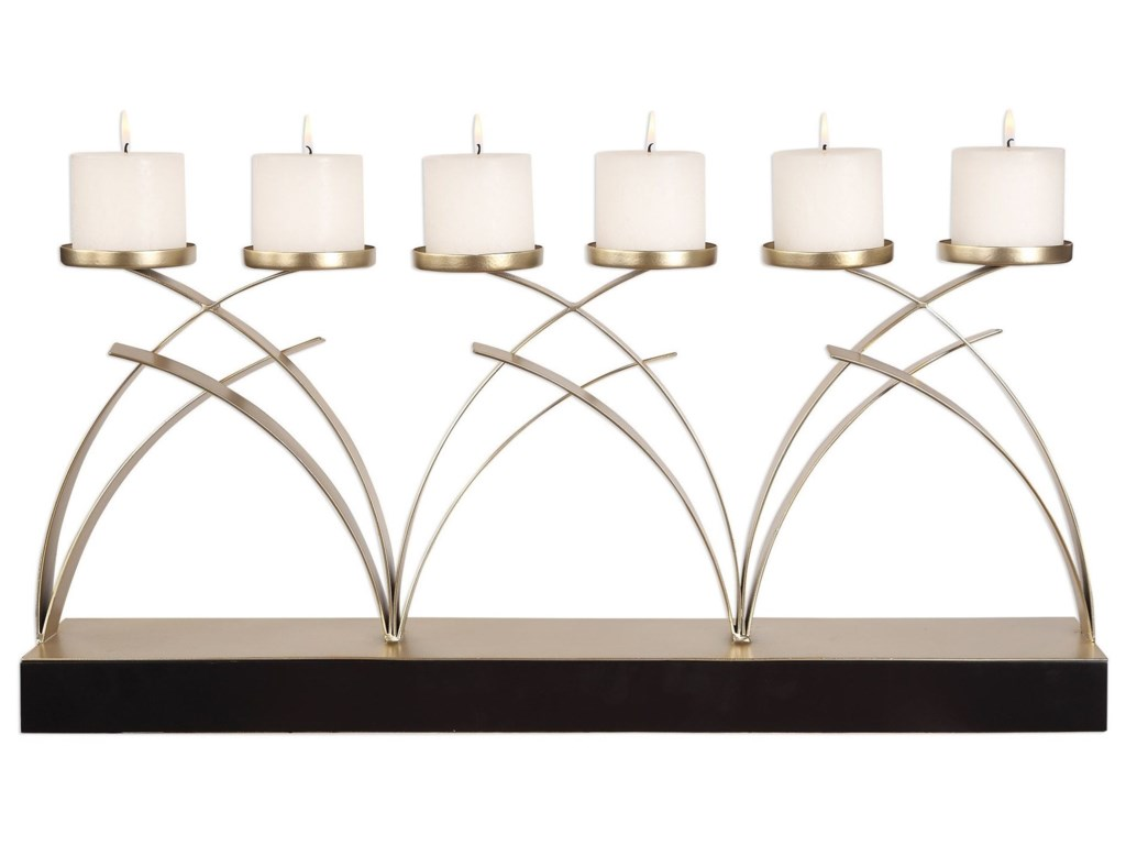 Uttermost Accessories - Candle HoldersNikolas Antiqued Silver Candelabra