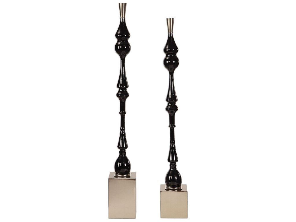 Uttermost AccessoriesKyndall Black Finials, S/2