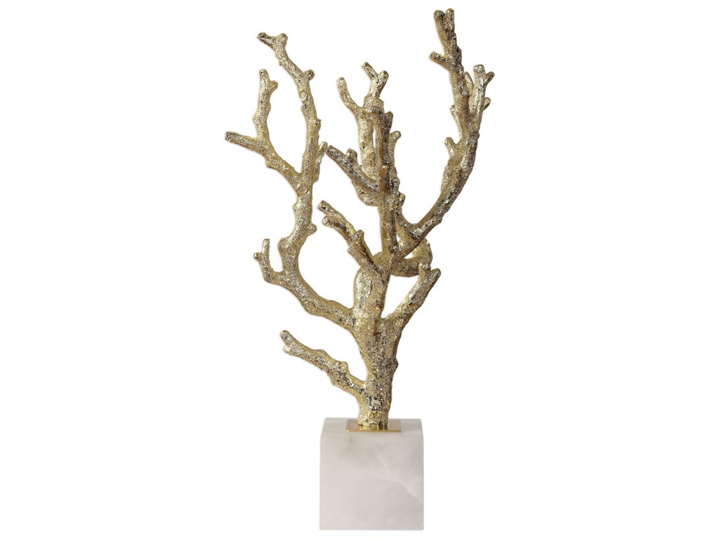 Uttermost Accessories - Statues and FigurinesCoraline Silver Coral Sculptures