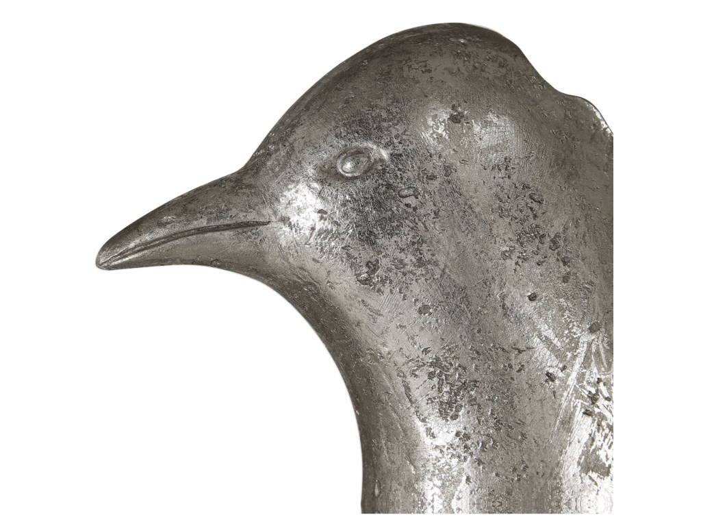 Uttermost Accessories - Statues and FigurinesIsha Silver Bird Sculpture