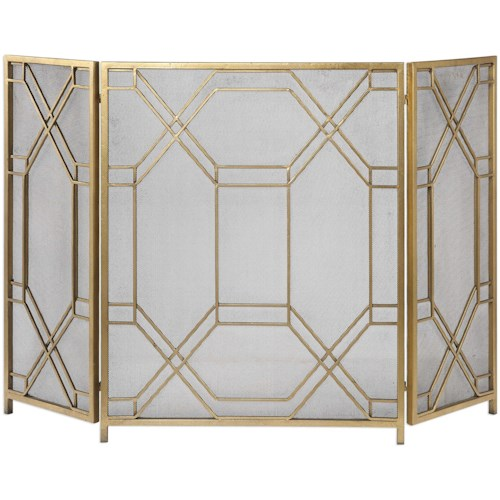 Uttermost Accessories Rosen Gold Fireplace Screen