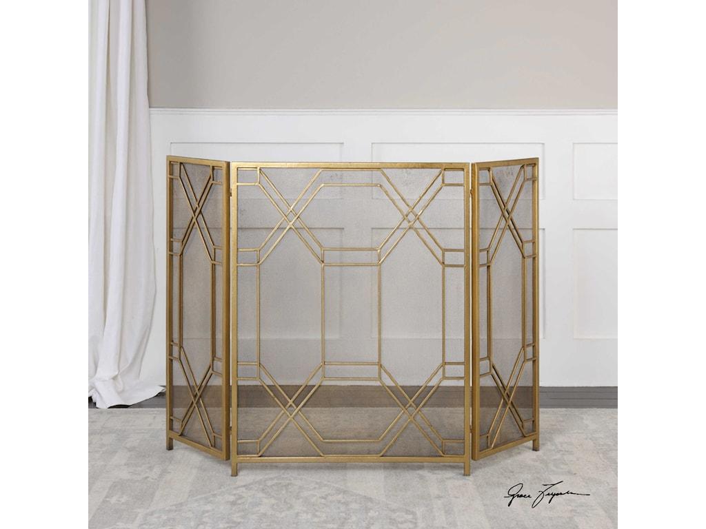 Uttermost AccessoriesRosen Gold Fireplace Screen