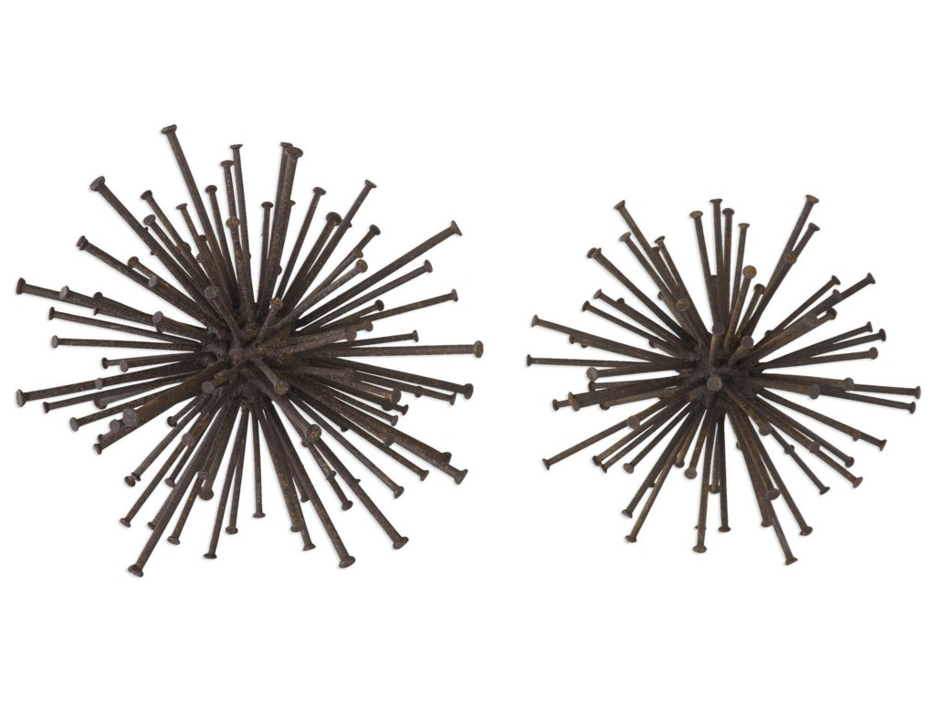 Uttermost AccessoriesAric Nail Spheres (Set of 2)